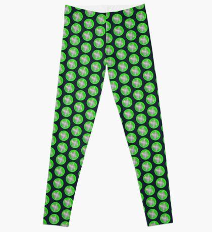 Green light planet #Fractal Art Leggings