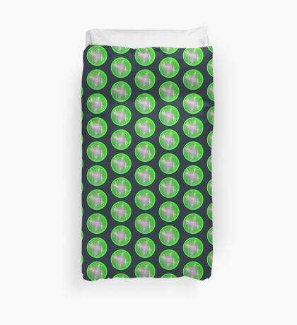 Green light planet #Fractal Art Duvet Cover