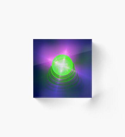 Green light planet #Fractal Art Acrylic Block