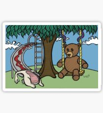 Teddy Bear And Bunny - The Playground Sticker