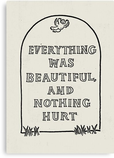 everything was beautiful and nothing hurt vonnegut