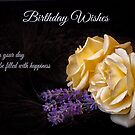 Lavender and Roses - Birthday Card by Ellesscee