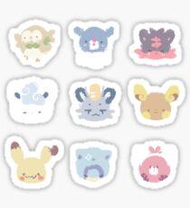 Pokemon Sun and moon kawaii sticker batch Sticker
