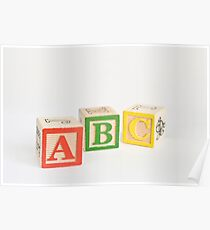 Alphabet Blocks Poster