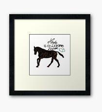 """Hope is a waking dream"" equestrian style Framed Print"