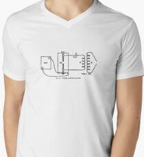 Principals of the Tesla Coil Men's V-Neck T-Shirt