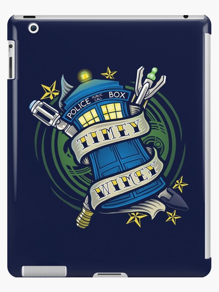 Timey Wimey (iPad case) by Ameda Nowlin