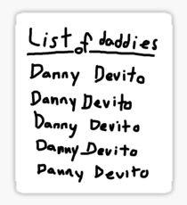 Everyone List Your Daddies! Sticker
