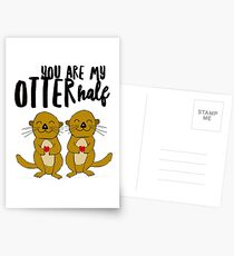 You Are My Otter Half Postcards