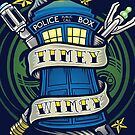 Timey Wimey (iphone case1) by Ameda