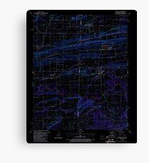 USGS TOPO Map Arkansas AR Hackett 258641 1987 24000 Inverted Canvas Print