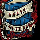 Hello Sweetie (iphone case2) by Ameda