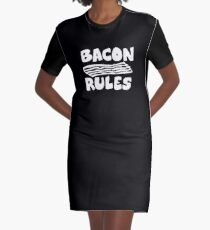 Bacon Rules Graphic T-Shirt Dress
