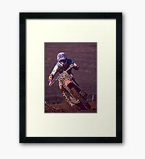 Motocross racer Framed Print