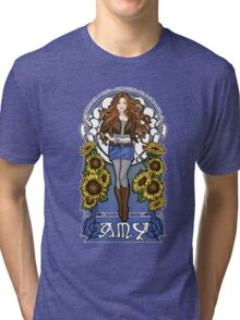 The Girl Who Waited (Amy in sunflowers) Tri-blend T-Shirt