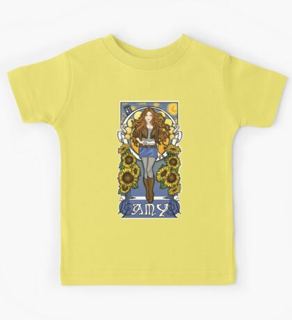The Girl Who Waited (Amy under a Van Gogh sky) Kids Clothes