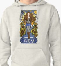 The Girl Who Waited (Amy under a Van Gogh sky) Pullover Hoodie