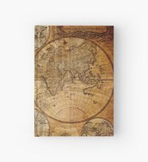 Old vintage world's map Hardcover Journal