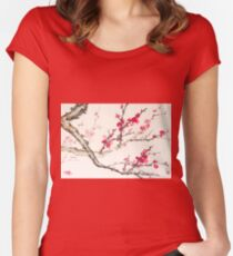 Plum Blossom Women's Fitted Scoop T-Shirt