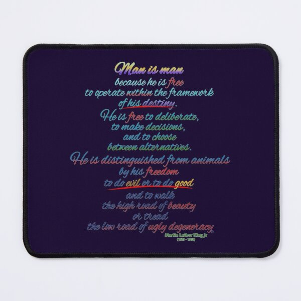A quote by Martin Luther King Jr Mouse Pad