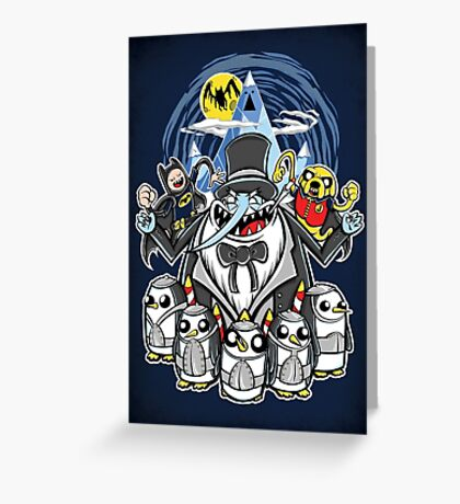 Penguin Time Greeting Card