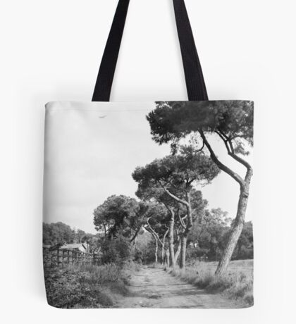 lanscape in Black and White Tote Bag