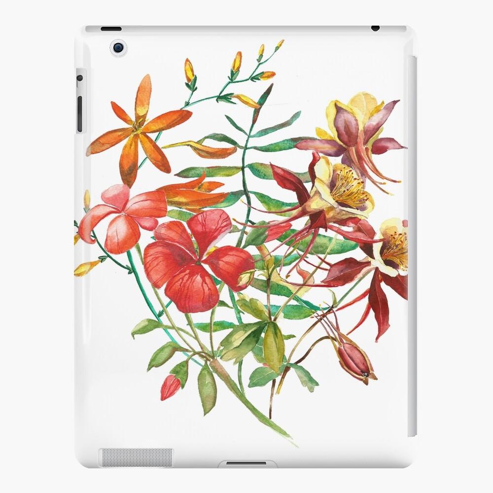Flor del ramo de la acuarela Funda y vinilo para iPad