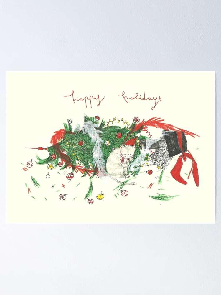 Alternate view of happy holidays! Poster