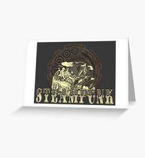 Grunge Steampunk Vintage Robot  Greeting Card