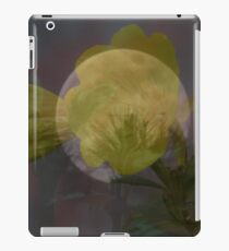 Layered Moon And Flower iPad Case/Skin