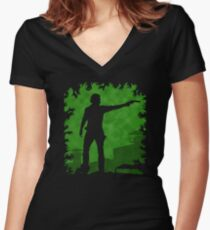 The Apocalypse - Rick Grimes Women's Fitted V-Neck T-Shirt