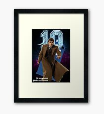 Tenth Doctor - Greeting Card Framed Print