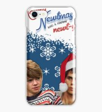 Merry Newtmas Greeting Card iPhone Case/Skin