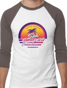San Junipero Black Mirror Together Forever Men's Baseball ¾ T-Shirt