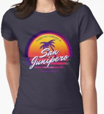 Camiseta entallada para mujer San Junipero Black Mirror Together Forever