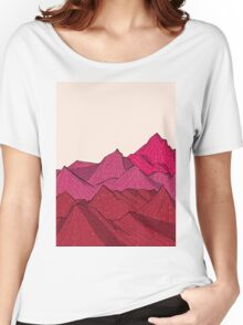 The falling snow and the mountains Women's Relaxed Fit T-Shirt