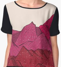 The falling snow and the mountains Chiffon Top