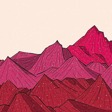Der fallende Schnee und die Berge von steveswade