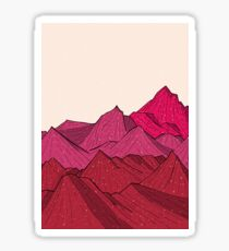The falling snow and the mountains Sticker