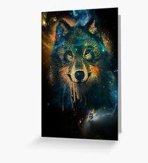 Tarjeta de felicitación Galaxy Wolf