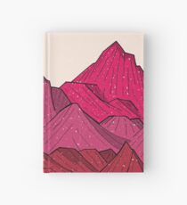 The falling snow and the mountains Hardcover Journal