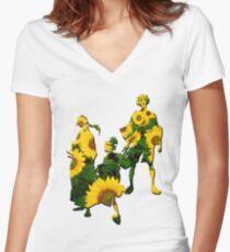 Samurai Champloo - Sunflowers Women's Fitted V-Neck T-Shirt
