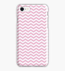 Pink and White Chevron Pattern iPhone Case/Skin