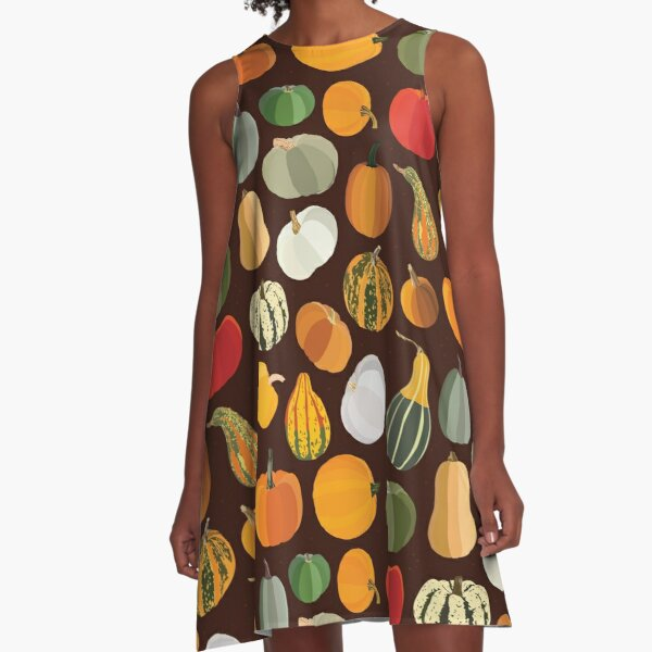 Pumpkins A-Line Dress