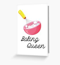 Baking Queen  Greeting Card