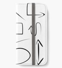 abstract arrows on white background,vector illustration iPhone Wallet/Case/Skin