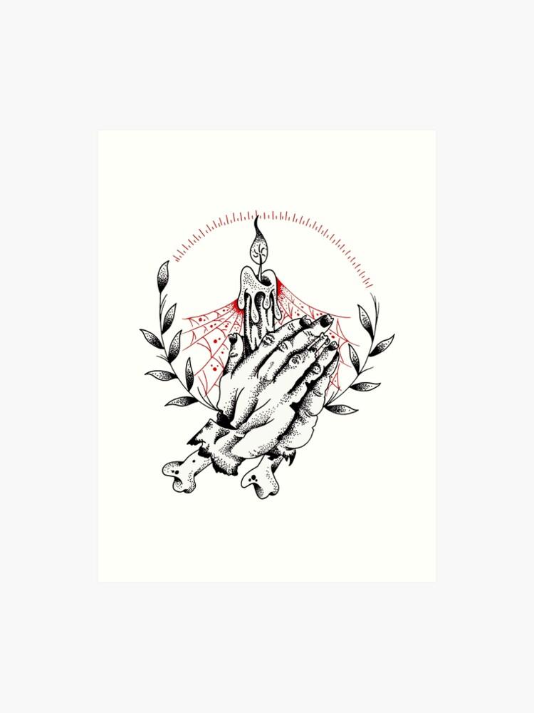 9f6d7953ee983 Praying Zombie Hands Tattoo design