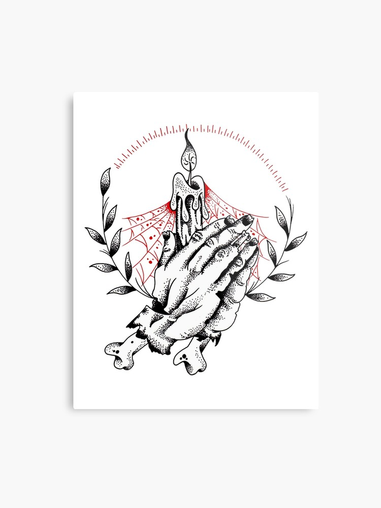 9c7f1d8264df7 Praying Zombie Hands Tattoo design