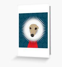 'RrrrrrUFF' - Christmas whippet Greeting Card
