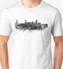 Raleigh skyline in black watercolor Unisex T-Shirt